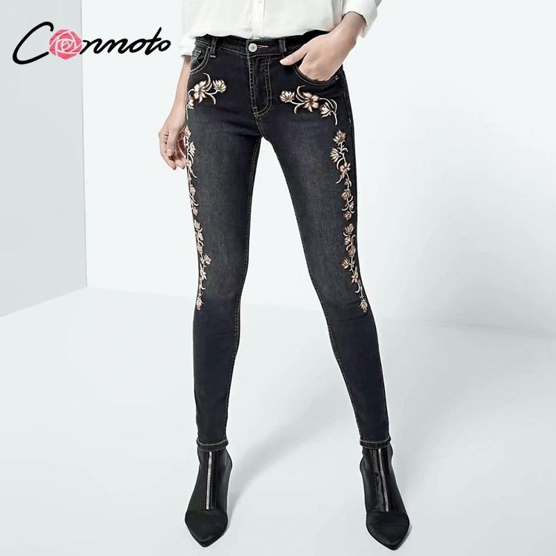 new concept 6717e 67dba Conmoto-2018-Broderie-Skinny-Jeans-Pantalon-Femmes-Taille-Haute-Extensible-Denim-Noir-Jean-Mode-Zipper-Streetwear.jpg