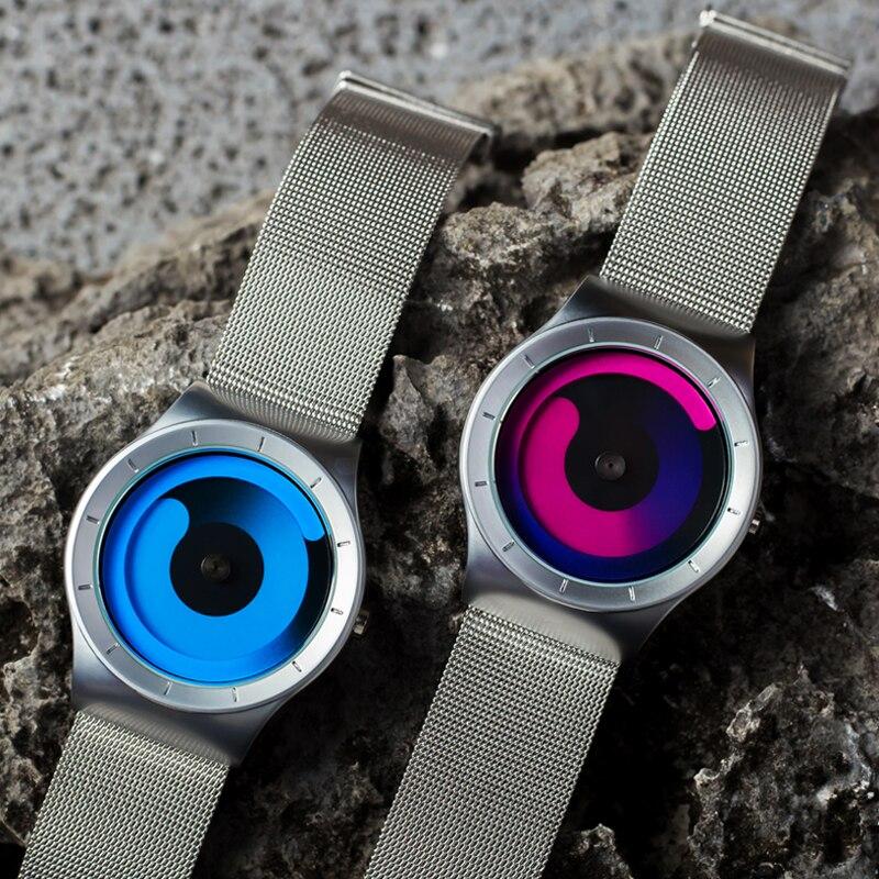 Finda Brand New 2018 Kreatywne Obrót Mężczyźni Zegarki Pasek - Męskie zegarki - Zdjęcie 4