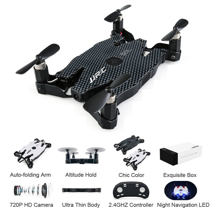 JJR/C H49 SOL Ultrathin Wifi FPV Selfie RC Quadcopter Drone Camera 720P Auto Foldable Arm Altitude Hold RC Quadcopter VS H37 H47