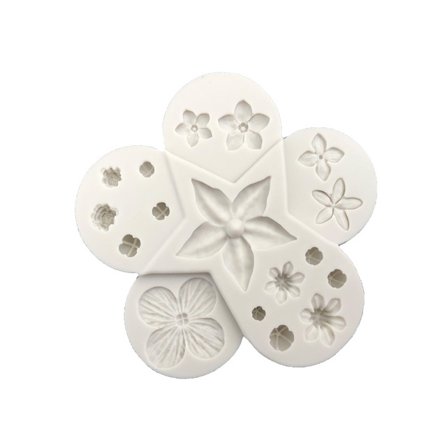 Aouke Flower Pro Ultimate Filler  Silicone Decorating Molds Cake Silicone Mold Sugarpaste Candy Chocolate Gumpaste Clay Mould