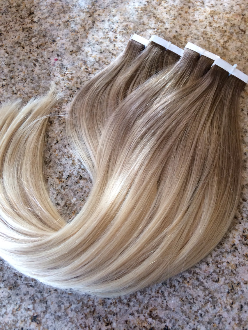 Tape In Hair 40pcs100g 7a Blonde Ombre Skin Weft Remy Human Hair