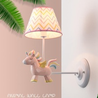 Unicorn קיר מנורת נסיכת חדר לטוס סוס המיטה אור ילדים בנות חלום שינה ילד מתנות קישוט תאורה