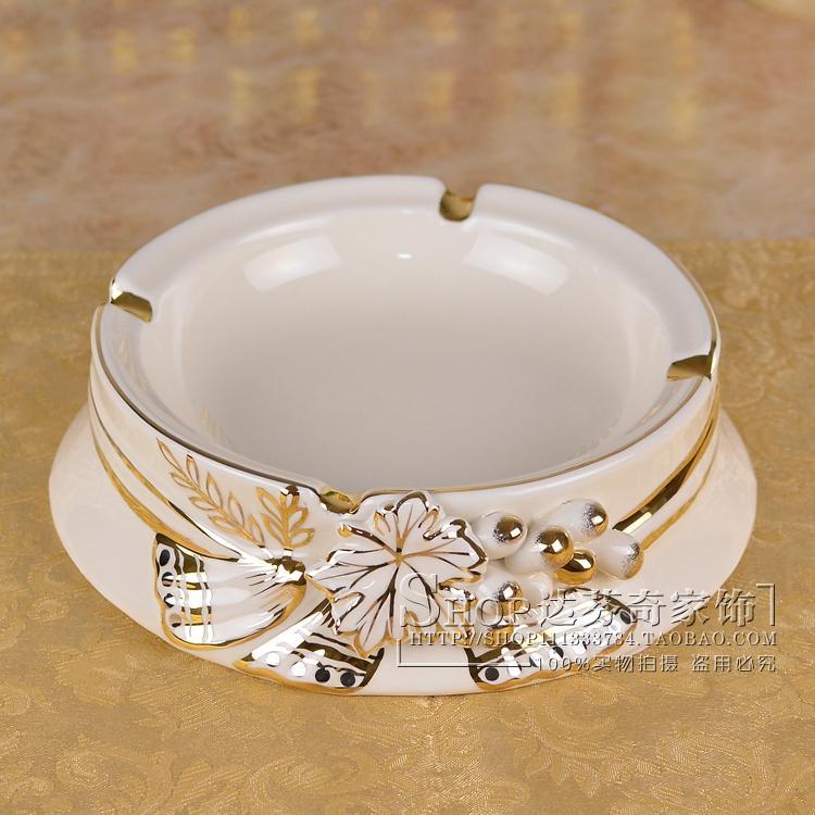European large ceramic ashtray luxury Decor embossed fashion gift ashtray Home Furnishing grape