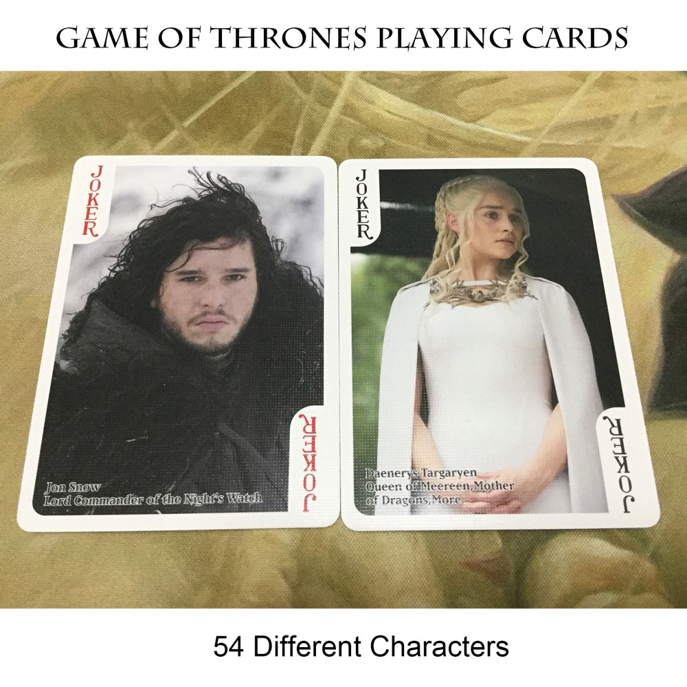 Original High Quality Game Of Thrones Board Game Playing Cards (A Song Of Fire And Ice) Poker Cards For All the Jon Snow Lovers