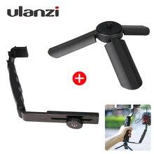 Ulanzi Mini Tripé + L Suporte Suporte Com 2 Sapata para Zhiyun Lisa Q Estabilizador/Feiyu Cardan/BY-MM1 Microfone/Luz de Vídeo