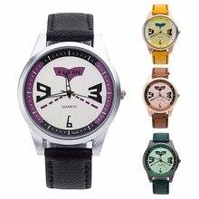 1 pc Mulheres homens relógio Das Mulheres do relógio Vestido Relógio de Pulso Feminino Personalidade rodada analógico Digital Retro PU Couro Quartz Watch X3