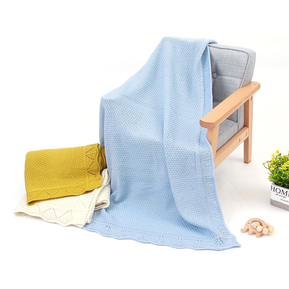 Baby Blankets Knitted Super Soft Newborns Bebes Swaddle Wrap Candy Color Toddler Infantil Sofa Crib Bedding Quilt Stroller Cover