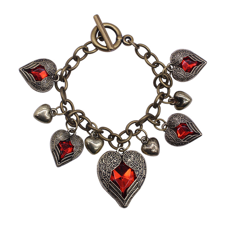 2017 bronze fashion jewelry jewelry vintage 5 heart for Vintage costume jewelry websites