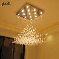 jmmxiuz Modern Crystal chandelier Lights Living Room lustres de cristal Decoration Tiffany Home Lighting Indoor Lamp Chandeliers