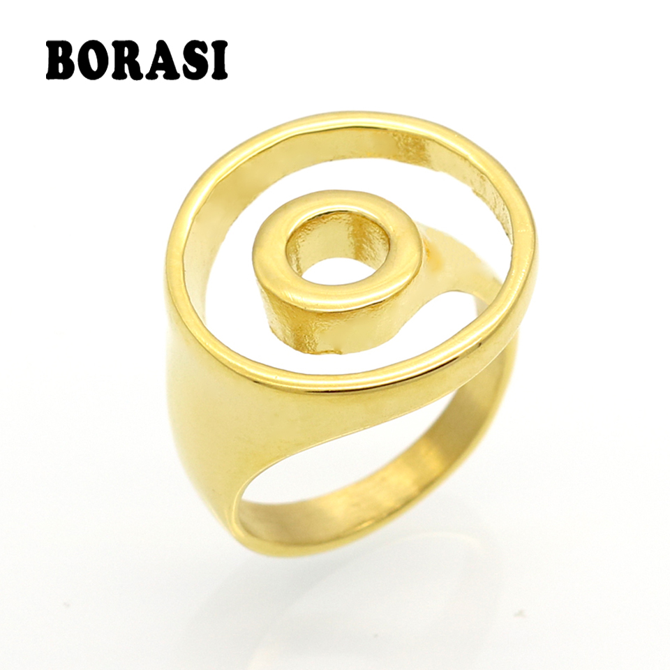 Fashion Midi Finger Rings for Women Hoop Ring Gold And ...