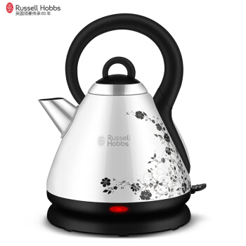 1.8L 1850W Russell Hobbs Overheat Protection Electric Kettle 304 Stainless Steel Kettle Mark with Beautiful Flower Printing hot insulated double layer proof electric kettle anti dumping stainless steel kettles overheat protection