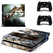 Monster Hunter Workd MHW PS4 Skin Sticker Decal Vinyl for Sony Playstation 4 Console and 2 Controllers PS4 Skin Sticker