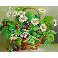 RUOPOTY Frame Flowers DIY Painting By Numbers Kit Modern Home Wall Art Picture By Numbers For Home Decors Living Room Artworks