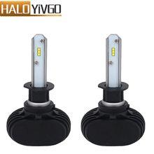 H1 H3 светодиодные лампы фар автомобиля csp 50 Вт 8000lm 6500 К все в одном авто LED Фары для автомобиля лампы фары Противотуманные фары 12 В