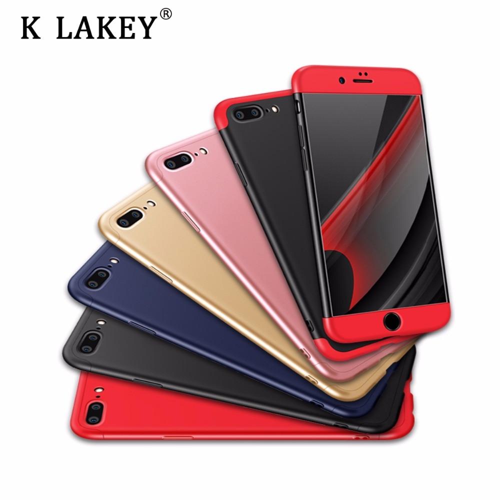 K лейки 3 в 1 съемный чехол для телефона IPhone X 10 7 6 6 S плюс 5 5S se 360 полная защита Чехол Гибкая жесткий матовый PC Back Cover