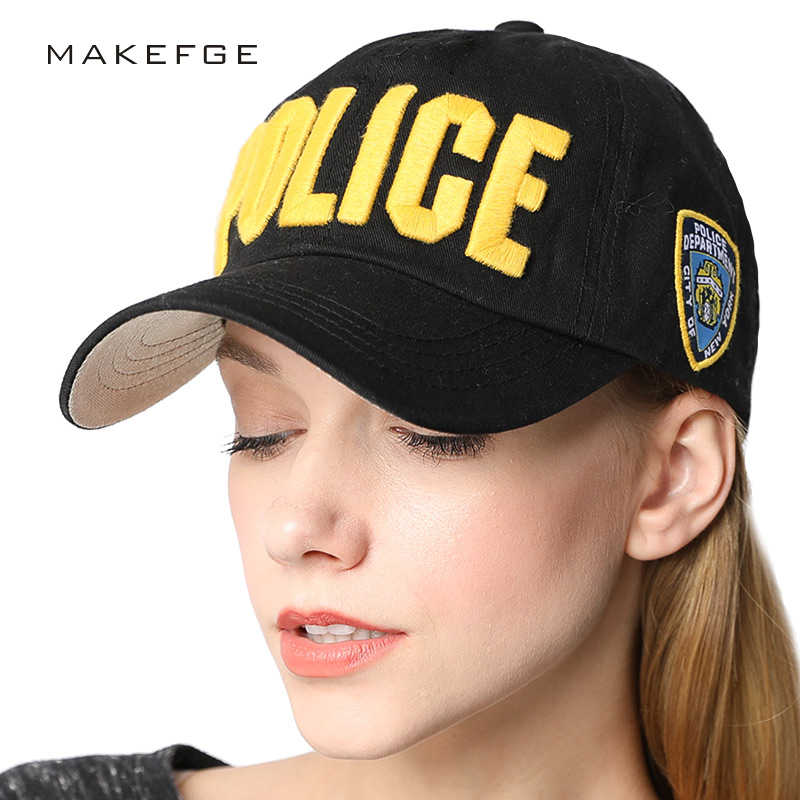 High quality embroidery Women Baseball Cap Snapback Hip Hop Casual Police Caps for Men Women Washed Trucker Hat Dad Hats Bone high quality washed cotton broken hole snapback men women baseball cap the high street dad hat kanye west mesh cap hip hop hat