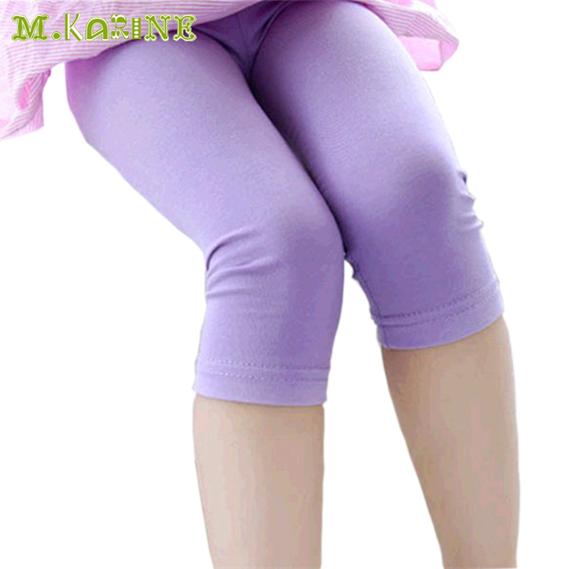 e4b149294328e On Sale Hot Modal Candy Color Seven Girls Leggings Summer Baby Kids  Colorful Leggin Toddler Solid Cotton Pants Wholesale &Retail