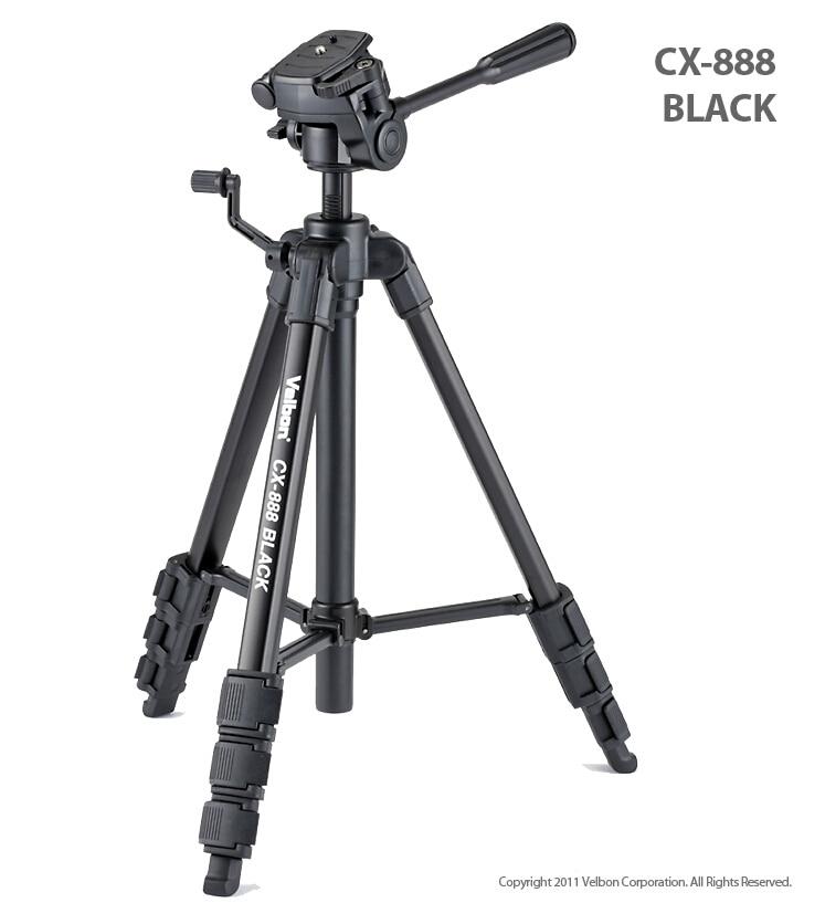 Free Shipping!!Velbon CX-888 black Camera photo Tripod w/Panhead & QB-4W &Case 1450mm Load:2kg 1 piece free shipping anodizing aluminium amplifiers black wall mounted distribution case 80x234x250mm