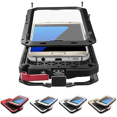 imágenes para Caja Del Teléfono Para Samsung Galaxy S3 S4 S5 S6 IPX3 S7edge nota 4 5 prueba de Choques Impermeable de Gran Alcance De Aluminio de Metal Cubierta de Gorilla Glass