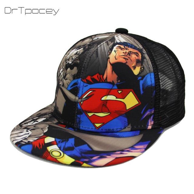 f232f9cbd8c Fashion Superman Batman Children Summer Snapback Adjustable Kid Boys Girls Baseball  Cap Hip-Hop Hat Outdoor Mesh Cap 2-7 Years