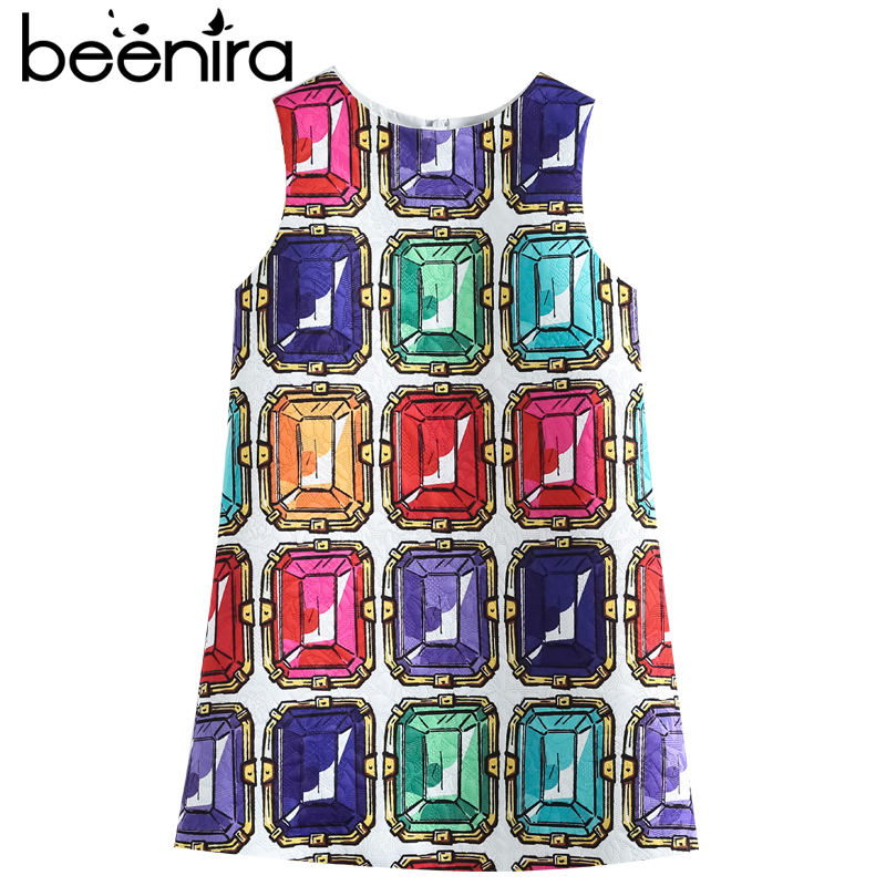 Beenira Children Sleeveless Dresses 2017 New European And American Style Girls Printing Summer Dress Design 14Y baby Girls Dress new hard plastic fishing lures crank