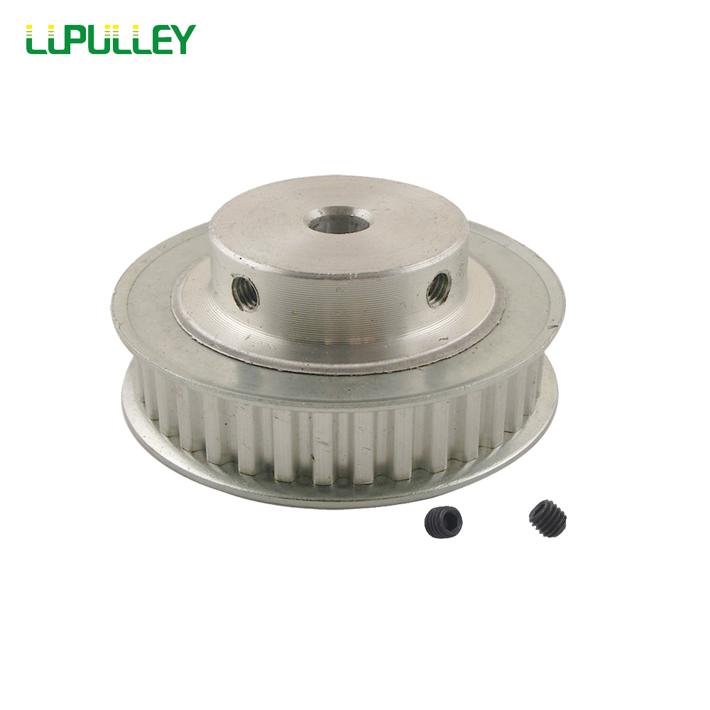 HTD5M24T Timing Belt Pulley 24 Teeth 6//6.35//8-20mm Bore 16mm width Stepper Motor