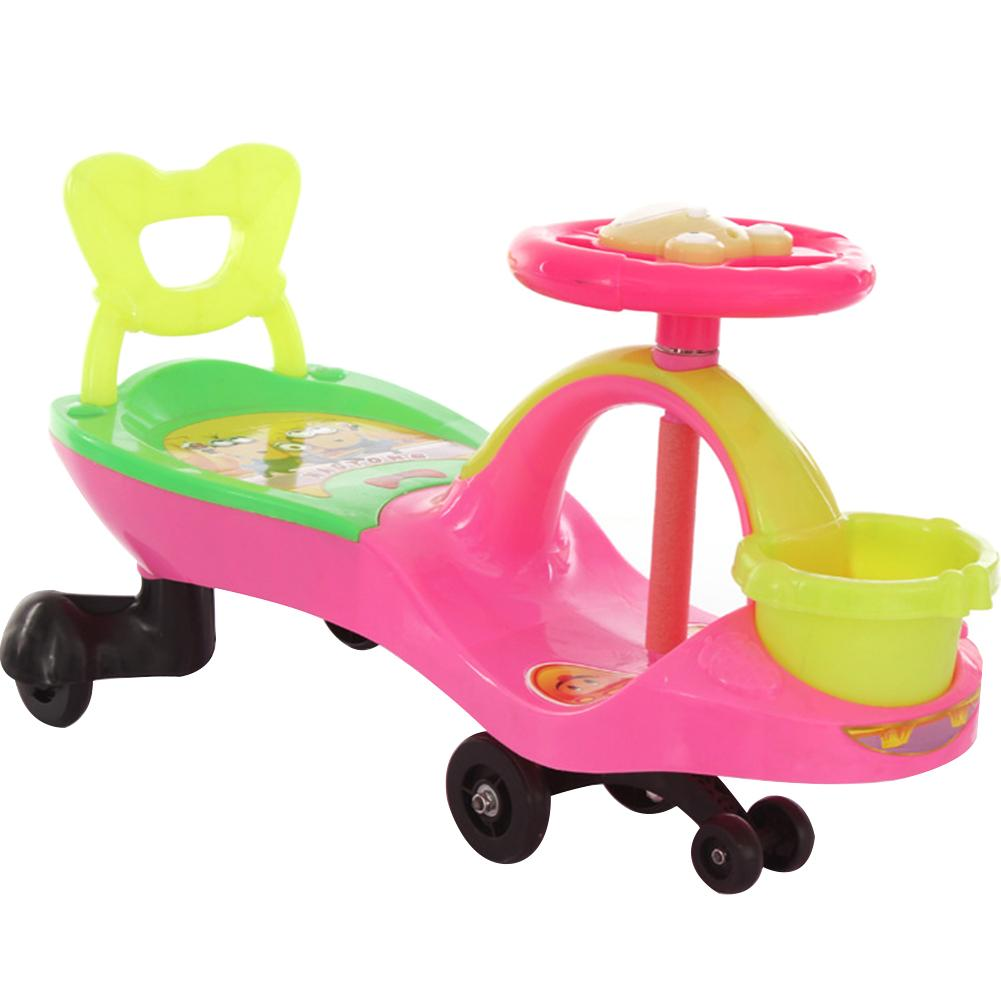 Kids Scooter Children Swing Car Baby Walker with Canasta + Lazyback + Music Toy Twist Car cute baby swing car walker without foot pedal scooters toddler stroller kids toy birthday gift