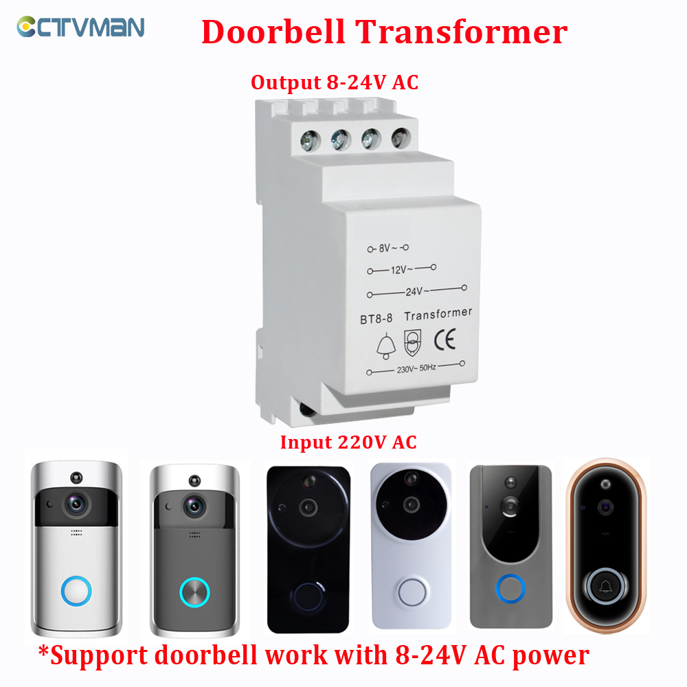 CTVMAN Transformer For CCTVMAN Wifi Doorbell Input 220V 50Hz To 8V AC