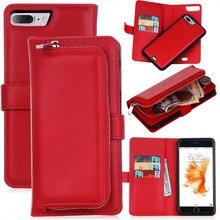 Ретро Гибридный Флип кожаный кошелек с молнией чехол для Apple iPhone 6 6 S 7/Plus Чехол для мобильного телефона задние Чехлы для iPhone 6 7 Plus