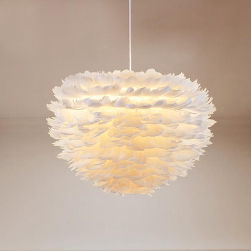 Modern White Flower Plume Pendant Light LED designer foyer Living Dinning Hanging Light Feather Pendant Lamp Home Decoration цена 2017