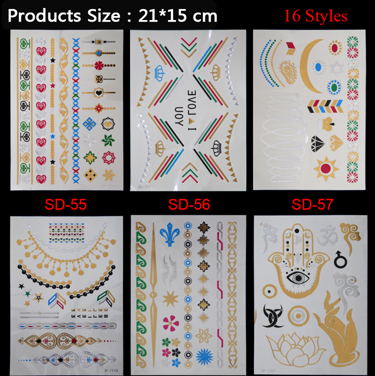 2017 Time-limited Limited 16 Models Of Color Diamond Necklace Bracelet Feather Diverse Tattoo