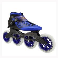 Professional speed skates adults roller skating women/men inline skate child big round wheel carbon fiber boots
