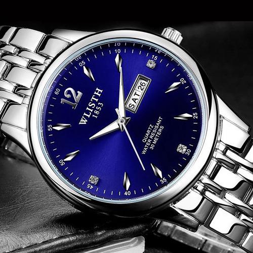 Prix pour WLISTH Hommes Montre Homme Horloge 2017 Top Marque De Luxe Célèbre Garçons Date Bracelet À Quartz Montres Hommes Acier Quartz-Montre Relogio Masculino