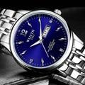 Wlisth hombres del reloj masculino 2017 de primeras marcas de lujo famosos chicos fecha de cuarzo relojes de pulsera hombres reloj de cuarzo de acero relogio masculino