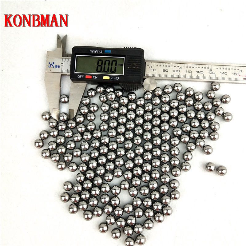 500pcs Lot 6mm 7mm 8mm Hunting Slingshot Balls Stainless AMMO Steel Balls For Sling Shot Stainless Steel Balls For Shooting in Bow Arrow from Sports Entertainment