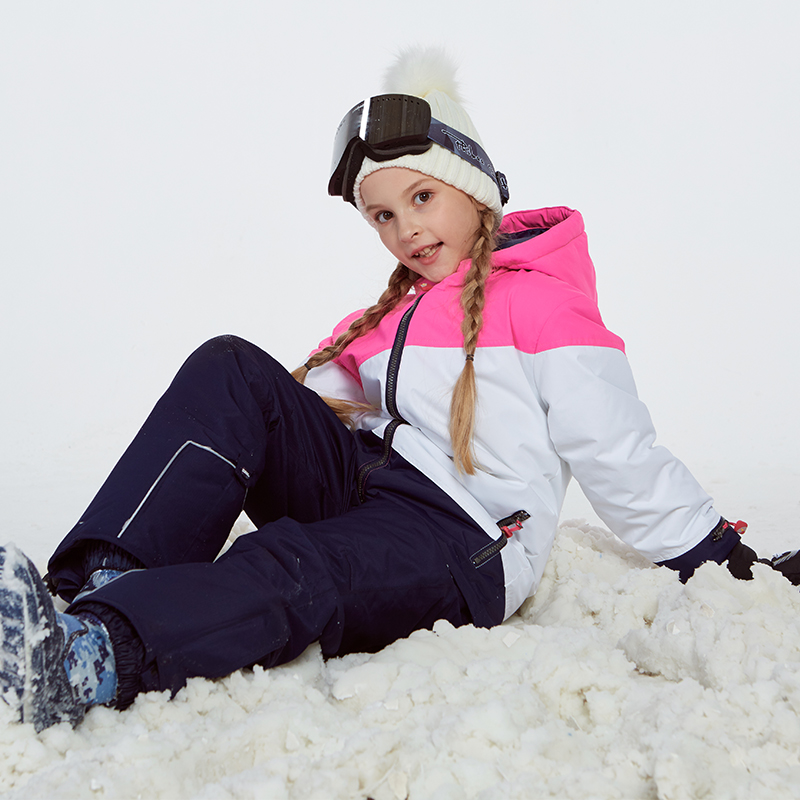 Détecteur fille Ski veste et pantalon hiver chaud Ski costume coupe-vent en plein air enfants vêtements ensemble enfants neige ensembles pour garçons filles - 5