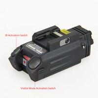 DBAL PL Тактический ИК лазерный свет комбо мерцающий свет оружия светодиодный пистолет Tac фонарик с красной лазерной NV осветитель