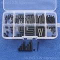 120 шт.  черная нейлоновая M2 Мужская/Женская Шестигранная стойка  стандартная гайка  набор винтов  пластиковый инструмент для ПК  горячая расп...