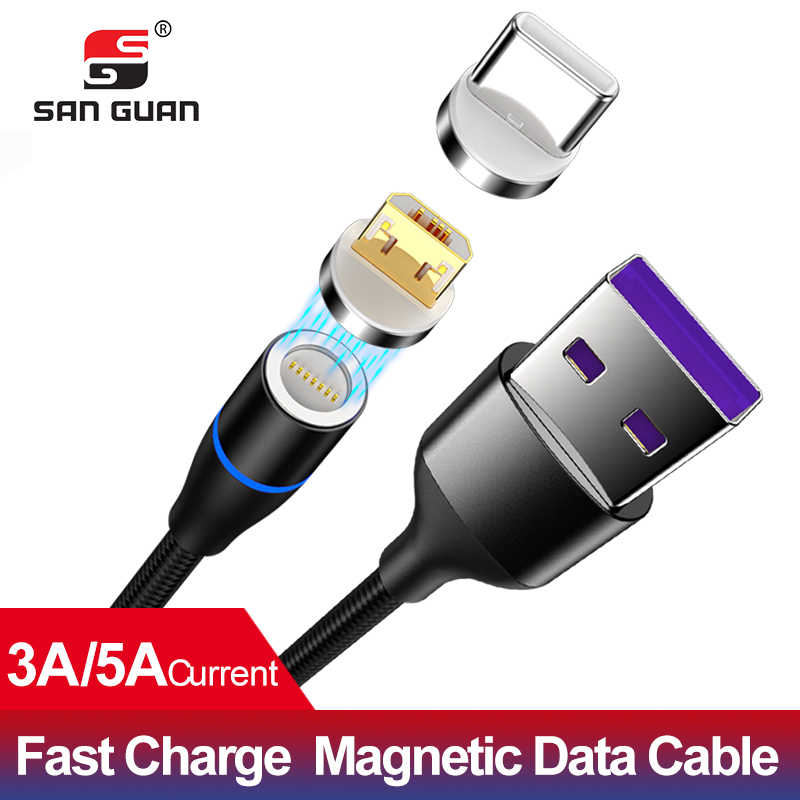 Magnetic cable usb micro 3A cable USB C 5A for Huawei high quality fast charging wire microusb Type C USB for Samsung OPPO VIVO