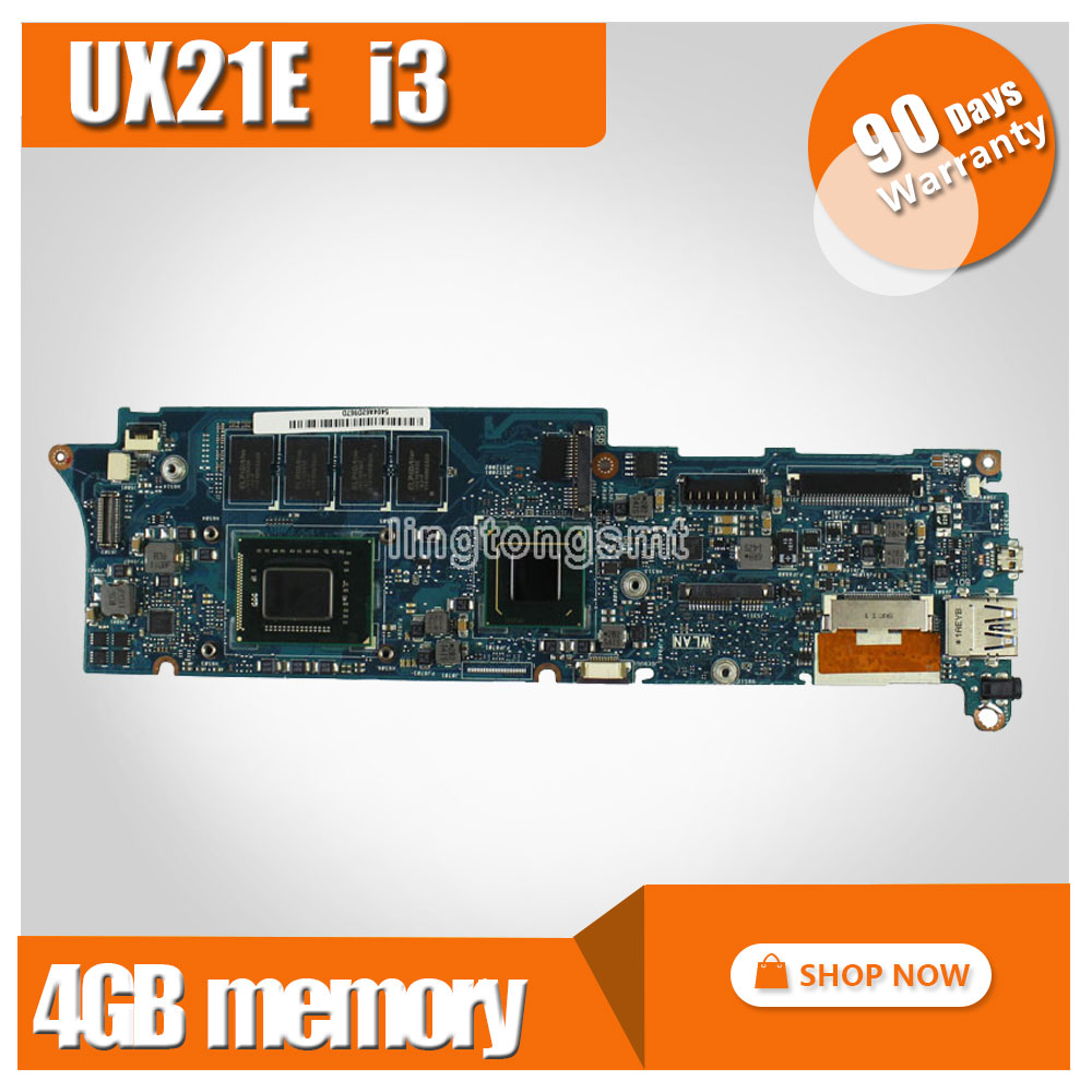 UX21E for ASUS laptop motherboard mainboard I3 CPU 4G QS67 Chipset USB3.0 with 100% tested for asus taichi21 with i5 3337u cpu laptop motherboard 90r ntfmb1500y 60 ntfmb1501 mainboard 100