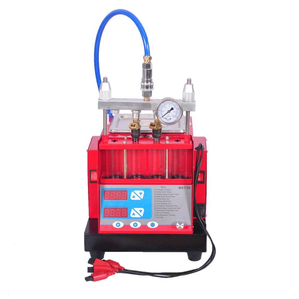 Цена за Высокая производительность топливной форсунки чище и тестер с siemens MST-30 насос ультразвуковой очистки Встроенный 4 цилиндров ультразвуковой