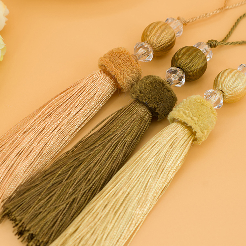 Wholesale 6pcs/lot 12cm Tassel With Hanging Rope Silk Sewing Tassels Trim Decorative Key Tassel For Curtains Home Decoration