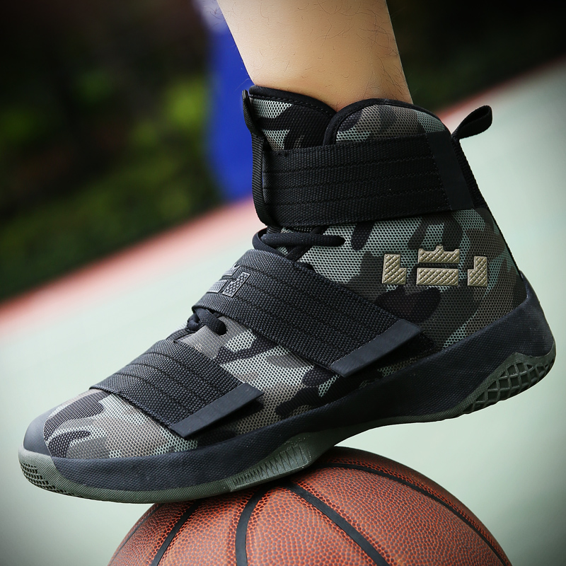 Men Sneakers Basketball-Shoes Ankle-Boots High-Top Gym Outdoor POLALI Athletic-Sport