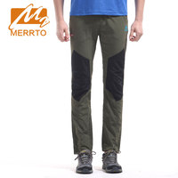 MERRTO outdoor men's elasticity Quick Dry Pants ultra-light Hiking Climbing Camping Pants windproof waterproof sports trousers