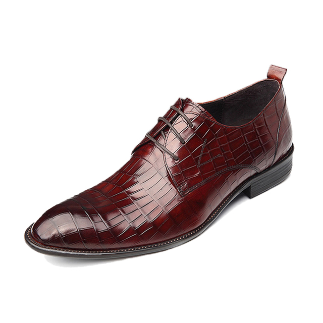 Men s Flats Genuine Leather Shoes Low Heel Men Dress Shoes for Men Office  Shoes 2016 New Brand Men Business Career Shoes 020-1 907e5a548100