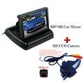 """CON pantalla lcd de 4.3 """"posterior del coche del monitor + 4 luces DEL IR kit de cámara de aparcamiento para HYUNDAI I30 para kia soul"""