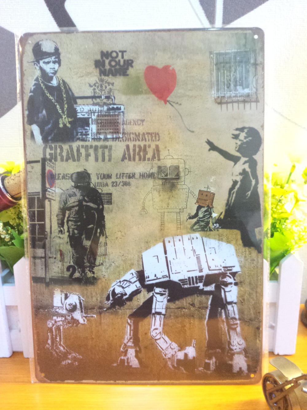 Vintage metal painting retro metal tin sign 20cm*30cm art posters Craft Area wall stickers home cafe bar pub wall decor