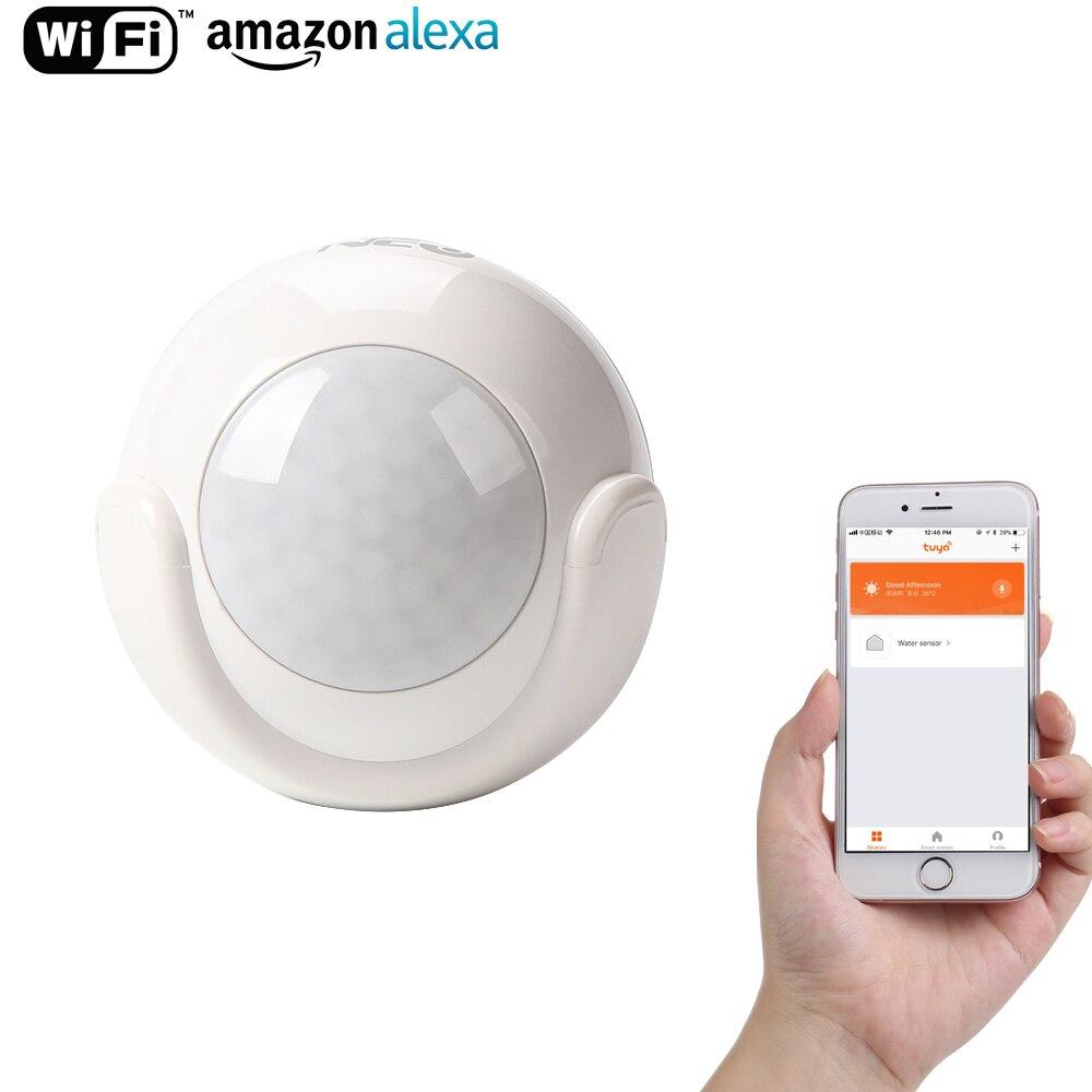 WiFi Intelligent PIR Motion Sensor Maison Intelligente Dectector Compatible, Sans Hub Nécessaire, Alerte Via Mobile Téléphone À Distance
