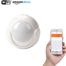 WiFi Smart PIR Motion Sensor Smart Home Dectector Compatible,No Hub Required,Alert Via Mobile Phone Remotely