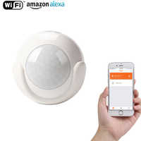 WiFi Smart PIR Motion Sensor Smart Home Dectector Compatible,No Hub Required,Alert Via Mobile Phone Remotely